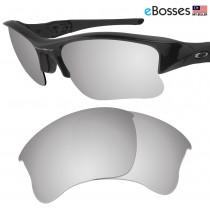 eBosses Polarized Replacement Lenses for Oakley Flak Jacket XLJ - Titanium