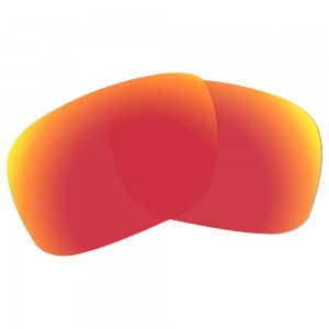 eBosses Polarized Replacement Lenses for Oakley Holbrook - Fire Red