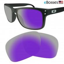 eBosses Polarized Replacement Lenses for Oakley Holbrook - Violet Purple