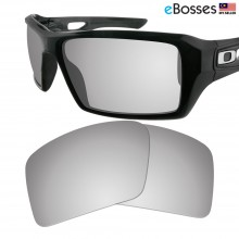eBosses Polarized Replacement Lenses for Oakley Eyepatch 2 - Titanium