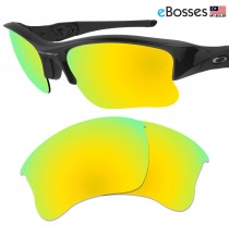 eBosses Polarized Replacement Lenses for Oakley Flak Jacket XLJ - Gold Green