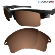 eBosses Polarized Replacement Lenses for Oakley Fast Jacket XL - Earth Brown