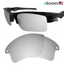 eBosses Polarized Replacement Lenses for Oakley Fast Jacket XL - Titanium