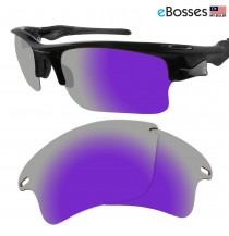 eBosses Polarized Replacement Lenses for Oakley Fast Jacket XL - Violet Purple
