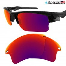 eBosses Polarized Replacement Lenses for Oakley Fast Jacket XL - Midnight