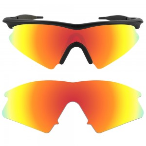 eBosses Polarized Replacement Lenses for Oakley M Frame Sweep - Fire Red