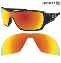 eBosses Polarized Replacement Lenses for Oakley Offshoot - Fire Red