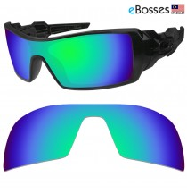 eBosses Polarized Replacement Lenses for Oakley Oil Rig Sunglasses - Emarald Green