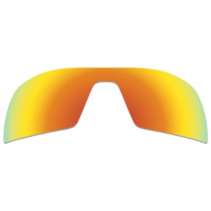 eBosses Polarized Replacement Lenses for Oakley Oil Rig Sunglasses - Fire Red