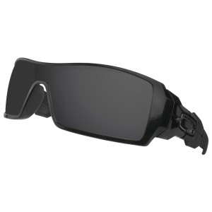 eBosses Polarized Replacement Lenses for Oakley Oil Rig Sunglasses - Solid Black