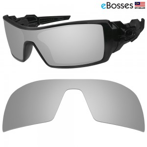 eBosses Polarized Replacement Lenses for Oakley Oil Rig Sunglasses - Titanium