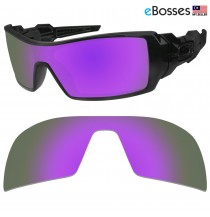 eBosses Polarized Replacement Lenses for Oakley Oil Rig Sunglasses - Violet Purple