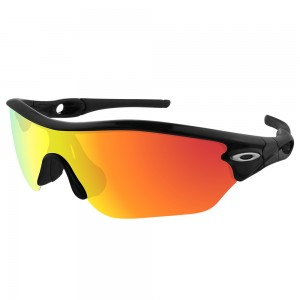 eBosses Polarized Replacement Lenses for Oakley Radar Edge Sunglasses - Fire Red