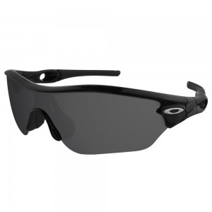 eBosses Polarized Replacement Lenses for Oakley Radar Edge Sunglasses - Solid Black