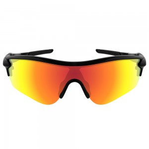 eBosses Polarized Replacement Lenses for Oakley RadarLock Path - Fire Red