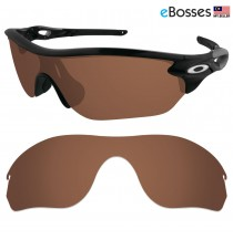 eBosses Polarized Replacement Lenses for Oakley RadarLock Edge Sunglasses - Earth Brown