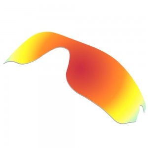 eBosses Polarized Replacement Lenses for Oakley RadarLock Edge Sunglasses - Fire Red