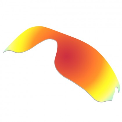 eBosses Polarized Replacement Lenses for Oakley RadarLock Edge Sunglasses - Fire Red