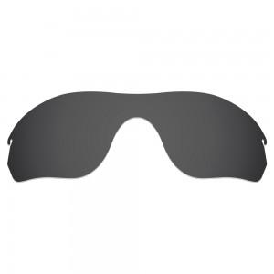 eBosses Polarized Replacement Lenses for Oakley RadarLock Edge Sunglasses - Solid Black