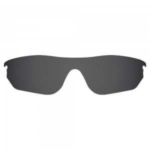 eBosses Polarized Replacement Lenses for Oakley RadarLock Edge Sunglasses - Solid Black