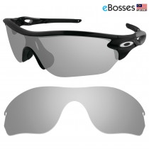 eBosses Polarized Replacement Lenses for Oakley RadarLock Edge Sunglasses - Titanium