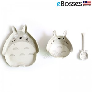 Totoro Ceramic Dinnerware Set Breakfast Bowl for Home Office Gift
