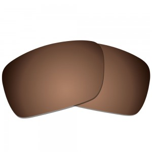 eBosses Polarized Replacement Lenses for Oakley Fuel Cell - Earth Brown