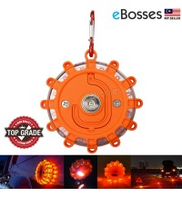 LED Magnetic Base Road Flares Flashing Warning Light Roadside Flare Emergency Disc Car by eBosses