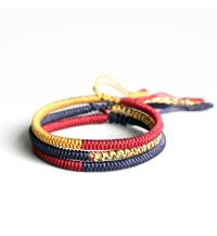 Handmade Knots Lucky Rope Bracelet by Tibetan