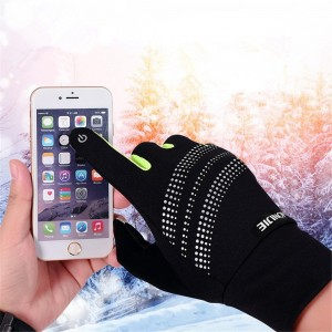 AONIJIE Winter Gloves Warmer Windproof Touch Screen Gloves Running Bicycling Outdoor Sports Hiking Camping
