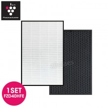 Sharp FZD40HFE Replacement Air Purifier HEPA & Deodorizing Filter for KCD40EW / KCD40EB