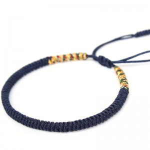 Handmade Knots Good Lucky Rope Bracelet by Tibetan