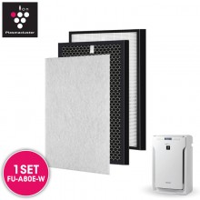 AIRPRO for Sharp FZ-A80SFE Replacement Air Purifier HEPA & Deodorizing Filter for FU-A80E-W
