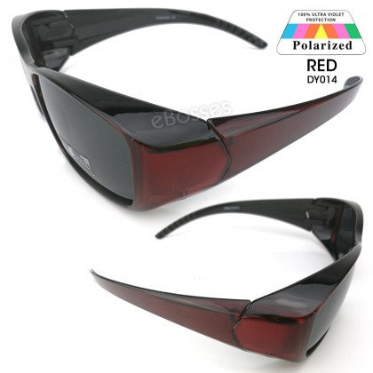 TOP GRADE UV Protection FitOver Overlap Polarized Sunglasses Unisex (DY014)