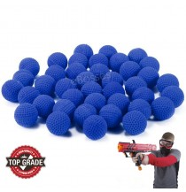 Rounds Compatible Gun Bullet Balls For Nerf Rival Apollo Zeus Refill Toy (Blue, 50 pcs)