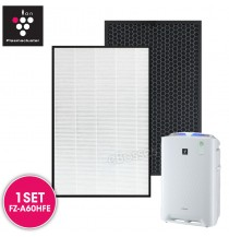 AIRPRO for Sharp FZ-A60HFE Replacement Air Purifier HEPA & Deodorizing Filter for KC-A60E