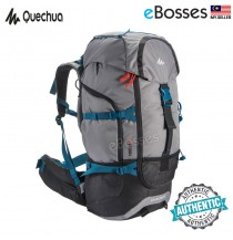 [Ready Stock] Original Quechua Backpack Trekking Forclaz 50 Litres - GREY
