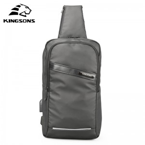 New Kingsons Chest Bag in Men's Crossbady Single Shoulder Strap