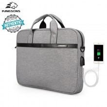New 2108 KINGSONS Laptop 15.6 inch Sleeve Waterproof Bag Notebook Tablet Case Messenger Shoulder for Men Women
