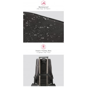 New 2018 Kingsons Laptop 15.6 inch Backpack Men Multifunction Waterproof USB Charger KS3193W