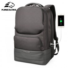 New 2018 Kingsons Laptop 15.6 inch Backpack Men Multifunction Waterproof USB Charger KS3193W