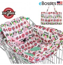 2-in-1 Shopping Cart Cover | High Chair Cover for Baby - Owl Design