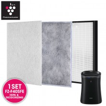 AIRPRO for Sharp FZ-F40SFE Replacement Air Purifier HEPA & DEODORIZING Filter Set for FPFM40LB, FP-F40L, FZ-40STS