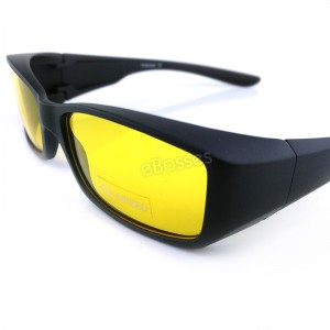TOP GRADE UV Protection FitOver Overlap Night Driving Polarized Night Vision Sunglasses Unisex (DY016)