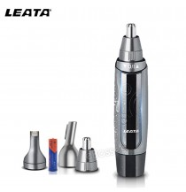 LEATA Rechargeable Waterproof with Light Electric Nose Hair Trimmer Removal Clipper Shaver