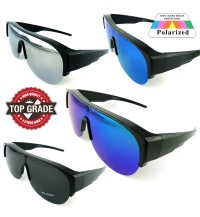 TOP GRADE UV PROTECTION FITOVER OVERLAP POLARIZED SUNGLASSES MEN (DY045)