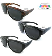 TOP GRADE UV PROTECTION FITOVER OVERLAP POLARIZED SUNGLASSES MEN WOMEN (DY039)