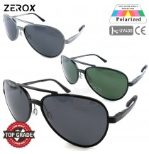 Zerox Top Quality Aluminium UV400 Polarized Sunglasses Men Women TY486 + Cloth + Casing