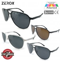 Zerox Top Quality Aluminium UV400 Polarized Sunglasses Men Women TY177 + Cloth + Casing