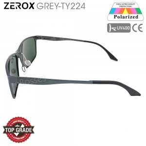 Zerox Top Quality Aluminium UV400 Polarized Sunglasses Men Women TY224 + Cloth + Casing